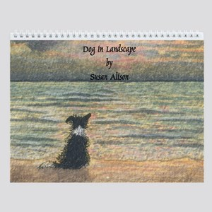 Border Collie Landscape Wall Calendar